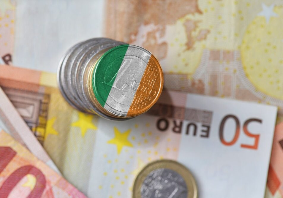 Euro,Coin,With,National,Flag,Of,Ireland,On,The,Euro
